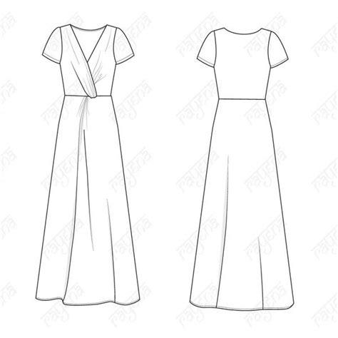 womens knot dress fashion flat template templates