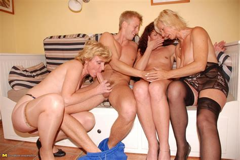 one guy who loves to fuck three mature sluts