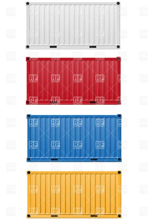 cargo container side view vector image vector artwork