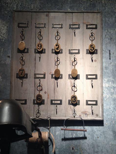 key rack for wall reclaimed wood hotel 20 hook large key rack holder wall