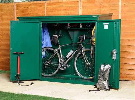 metal bike shed for 3 bikes cycle sheds from asgard