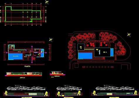 Barcelona Pavilion 2d Dwg Block For Autocad