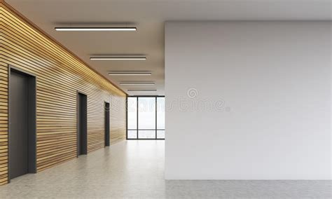 office lobby  white wall stock illustration