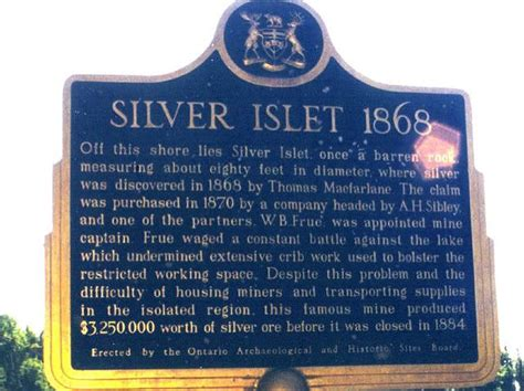 Silver Islet Historical Plaque