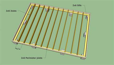 Floor Joist Spacing Shed by Storage Shed Plans Howtospecialist How To Build Step