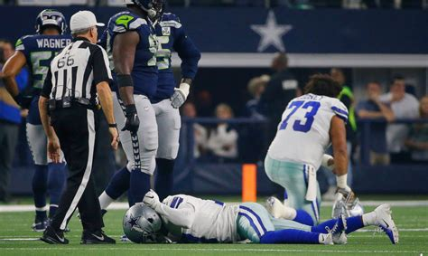 cowboys allen hurns appears  sustain severe leg injury