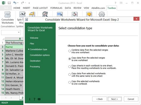 consolidating multiple excel files into one