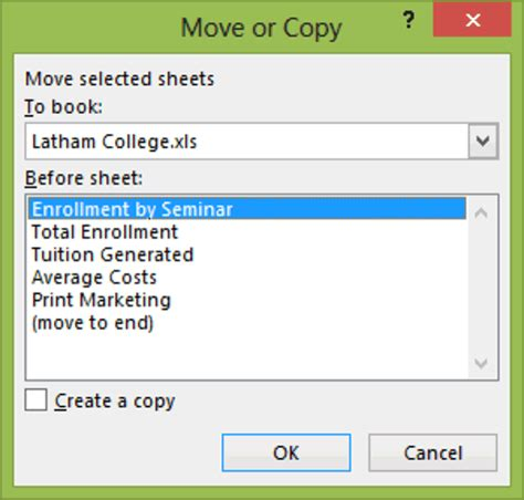 creating workspaces  excel training connection