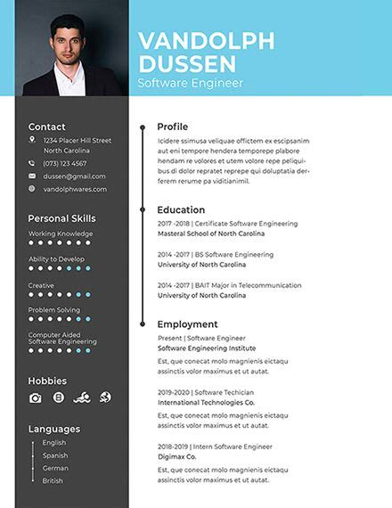 Free Resume Software by Free Resume For Experienced Software Engineer Cv For
