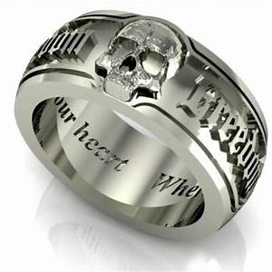 ideas skull wedding rings my babys ring pinterest With wedding rings with skulls on them
