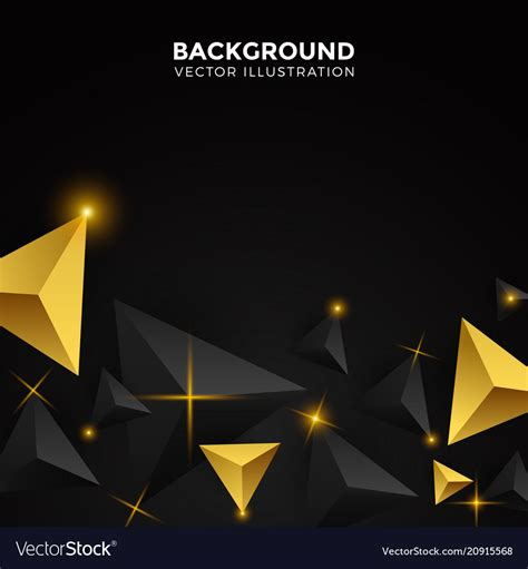 Abstract Black Triangle Background by Abstract Gold And Black Triangle Background 3d Vector Image