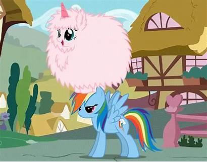 Fluffy Puff Fluffle Pink Unicorns Dancing Rainbows