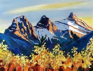 phillipa hudson mountain landscapes acrylic three