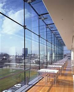 NEC玉川ルネッサンス・シティ食堂(DPG構法(点支持)+リブガラス(通し)):日本板硝子D&Gシステム株式会社