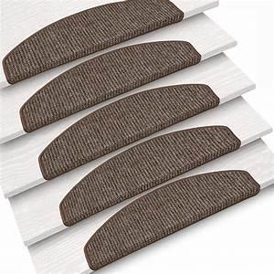 Stufenmatten Set 15 Teilig : 15er set stufenmatten treppenstufe schlinge meliert 4 vers farben 24x65 cm ~ Markanthonyermac.com Haus und Dekorationen