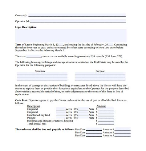 Trucking Agreement Template by 15 Owner Operator Lease Agreements Word Pdf Sle