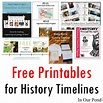 Free Printables for History Timelines - In Our Pond