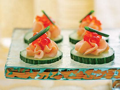 smoked salmon canape ideas smoked salmon mousse canapés recipe myrecipes
