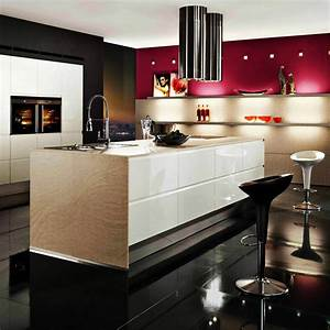 fabulous modern kitchen paint colors ideas for house With best brand of paint for kitchen cabinets with corten wall art