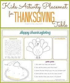 activity placemat for thanksgiving table