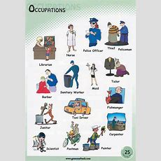 Occupations Pictionary For Kids