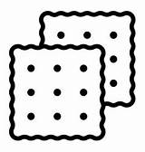 Cracker Outline Icon Flat Isolated Thin Editable Stroke States United Ylivdesign sketch template