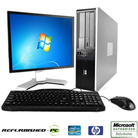 fast hp desktop computer pc deal core 2 duo windows 7 10