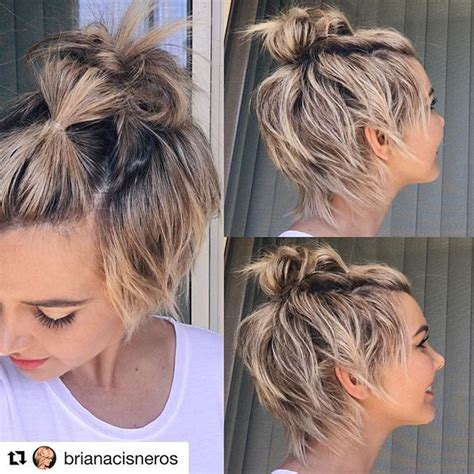 top  short hairstyle   thinking