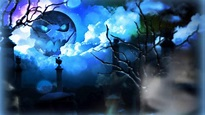 Blue Moon Halloween HD desktop wallpaper : Widescreen : High Definition : Fullscreen