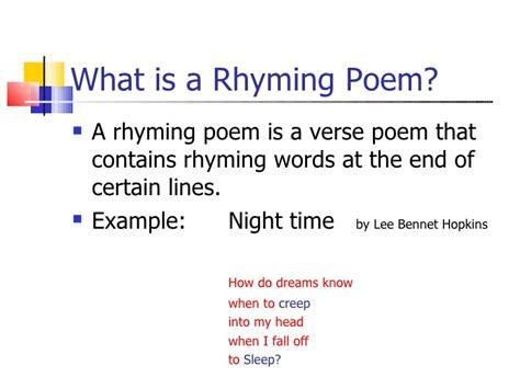 rhyme poems