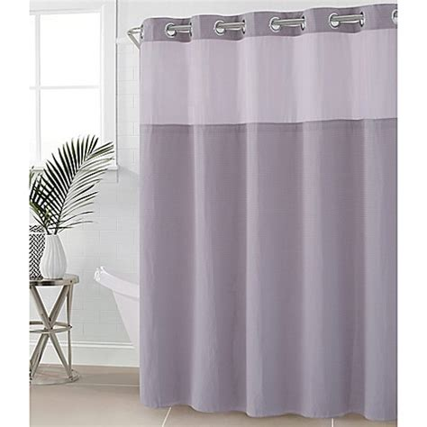 80 shower curtain buy hookless 174 waffle 54 inch x 80 inch fabric shower