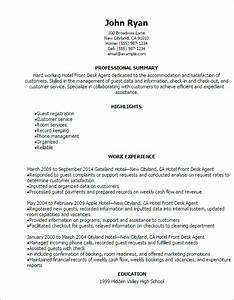 professional hotel front desk agent resume templates to With how to make a resume for hotel job