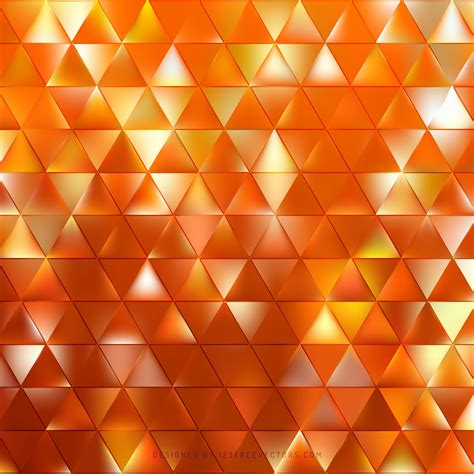 cool orange triangle vector background