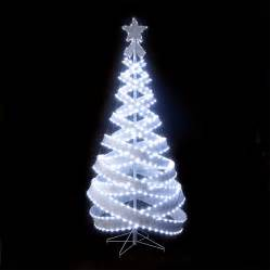 trees and lights 180cm 6ft outdoor indoor silver 818 led spiral pop up