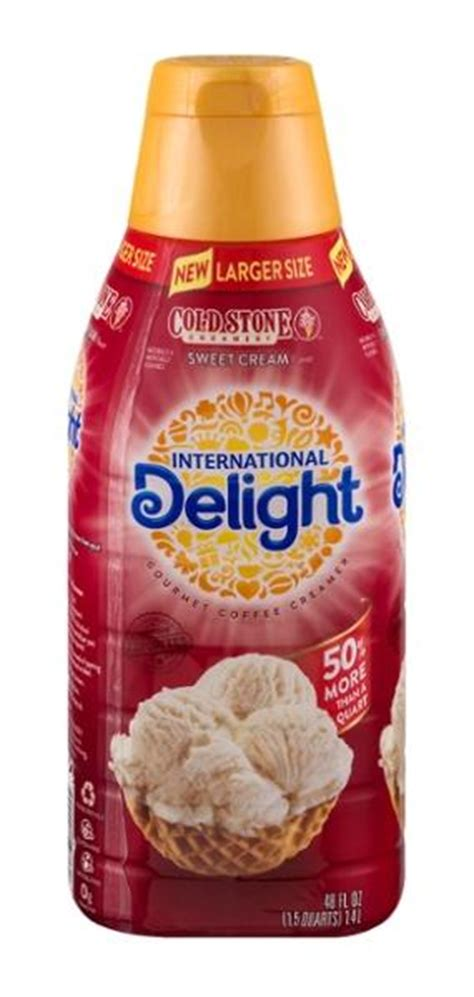 If this were not true, all those espresso places probably wouldn't be doing so well! International Delight Cold Stone Creamery Sweet Cream Gourmet Coffee Creamer 48 fl. oz. Bottle ...