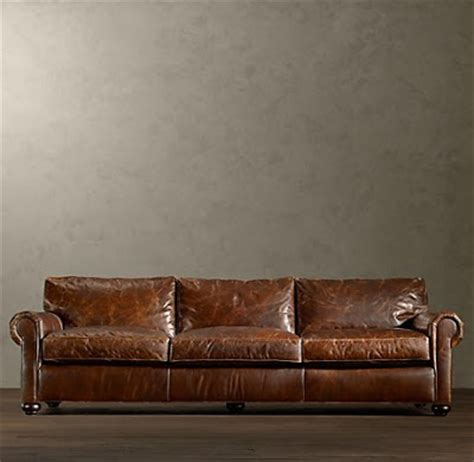 Restoration Hardware Lancaster Sofa Leather by Kateland Rob S Quot Quot Room