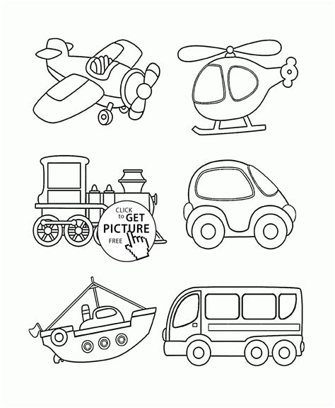 transportation coloring page  toddlers coloring pages
