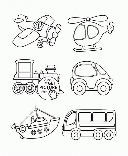 Transportation Coloring Pages Toddlers Vehicles Transport Preschool