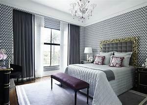 Tapeten Schlafzimmer Grau : schlafzimmer tapeten ideen wie wandtapeten den schlafzimmer look beeinflussen ~ Markanthonyermac.com Haus und Dekorationen