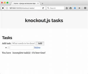 knockoutjs loading and saving data from and to django With knockout template foreach