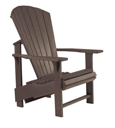 recycled plastic adirondack chair upright patio at sun