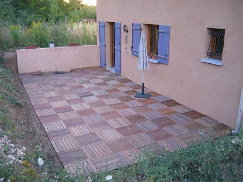 poser une terrasse en bois sur dalle beton poser une terrasse en bois sur des dalles normandie