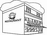 Coloring Restaurant Pages Building Printable Restaurants Sheets Getcolorings Friendly Fresh Books Resume Templates Rocks sketch template