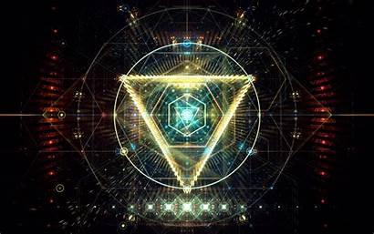 4k Neon Digital Geometric Creative Triangles Wallpapers