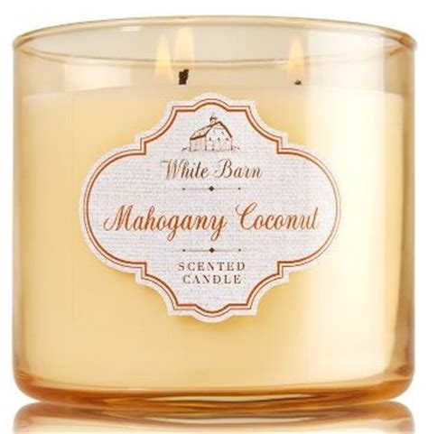 white barn candles mahogany coconut white barn review candle find