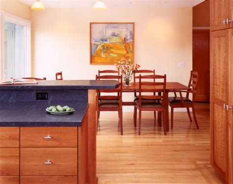 island tables for kitchen with stools custom cherry wood cabinets