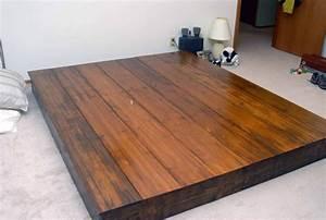 simple platform bed frame plans