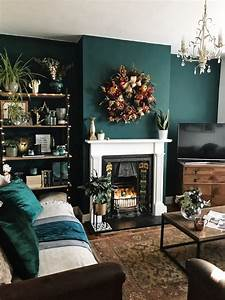 How, To, Use, Dark, Green, In, Your, Living, Room