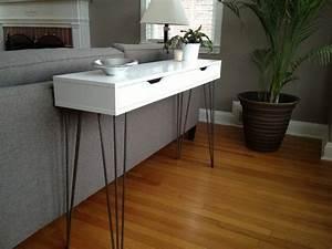 Pied De Table Ikea : superbe console moderne pas ch re avec ikea tag res ikea pieds de table et console ~ Teatrodelosmanantiales.com Idées de Décoration