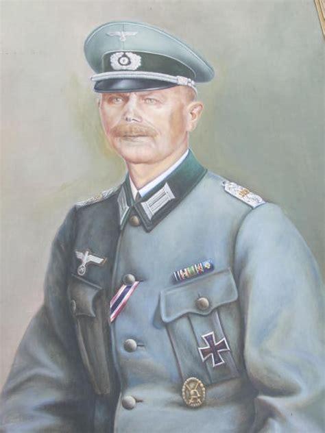 reich german officer oil  board portrait item